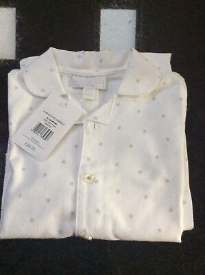 BNWT The Little White Company Star flannel sleepsuit, 12-18 Months, RRP £26