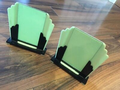 Pair Of Stunning Art Deco Early Plastic Photo Frames