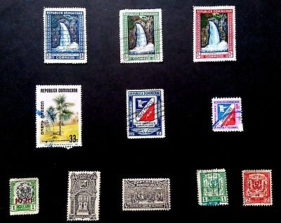 Page of Dominican Republic Stamps removed from old albums