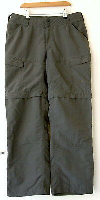 The North Face womens size 8S grey 6 pocket walking trousers