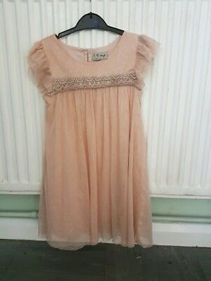 Girls Next Pretty Party Dress. Aged 5-6 Year's.  Very Good Condition.