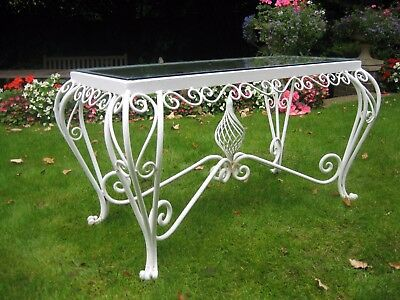 Console Table Wrought Iron French Vintage - garden or interior