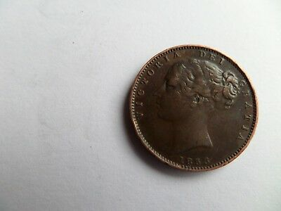 1853 Victoria Farthing Coin