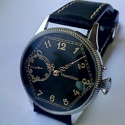Men's HAMILTON 912. Antique High Quality Movement of Pocket Watch in steel case.