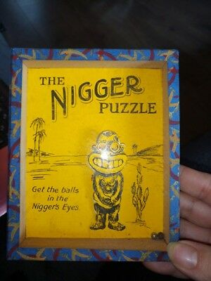 vintage glass top puzzle the nigger puzzle