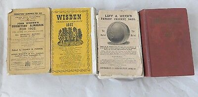 Wisden Cricketers' Almanack - 1913, 1922, 1950, 1952