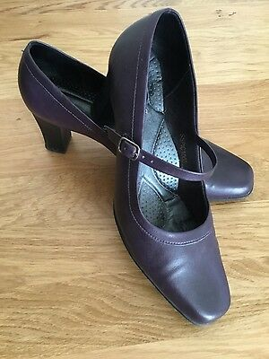 Pavers Picadilly deep purple shoes. wedding work vgc 8/41