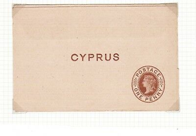 Cyprus One Penny Queen Victoria Newspaper Wrapper mint