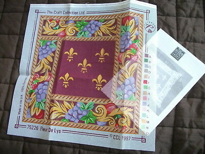 The Craft Collection Tapestry Canvas Fleur De Lys Cushion Canvas 75226