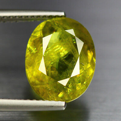 5.18 Cts_Electric Fire-Luster_100 % Natural Titanite Color Change Sphene_Russia
