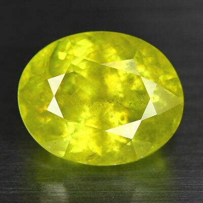 5.27 Cts_Electric Fire-Luster_100 % Natural Titanite Color Change Sphene_Russia