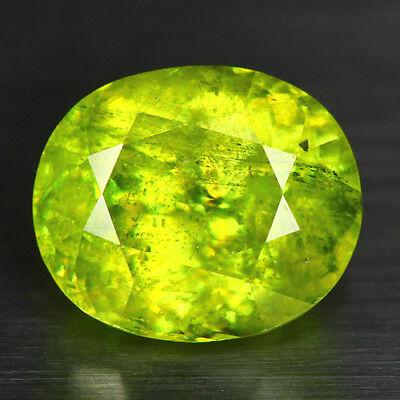 4.97 Cts_Electric Fire-Luster_100 % Natural Titanite Color Change Sphene_Russia