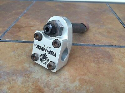 Old School Bmx Vintage Tuf Neck Stem Pro Freestyle Usa Silver Tour World