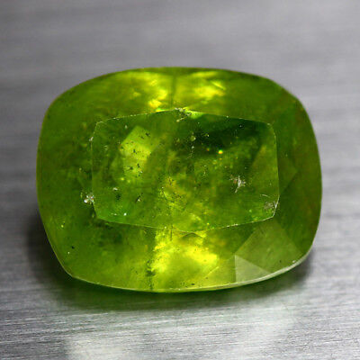 7.08 Cts_Top Electric Fire_100 % Natural Unheated Russian Titanite Green Sphene