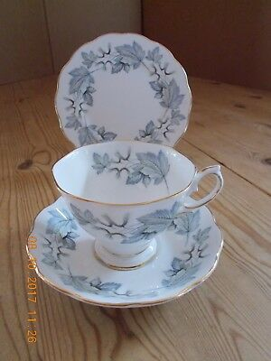Royal Albert Silver Maple Trios - Tea Cup, Saucer And Side Plate - 3 Available