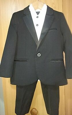 Black tuxedo suit with shirt. Age 2-3. Autograph from Marks and Spencer.