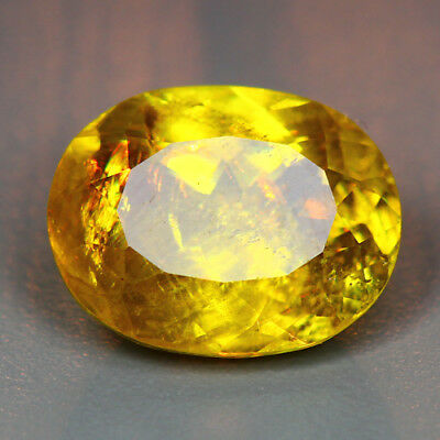 3.82 CTS_DIAMOND LUSTER_100% NATURAL UNHEATED GOLDEN YELLOW with RED SPOT SPHENE