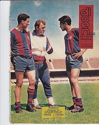 Barcelona V Valencia 1962 Fairs Cup Final Dicen Preview Issue 7 September 1962