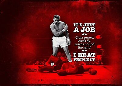 Muhammad Ali Aka Cassius Clay 04 And Sonny Liston Quote Mugs And Poster Prints