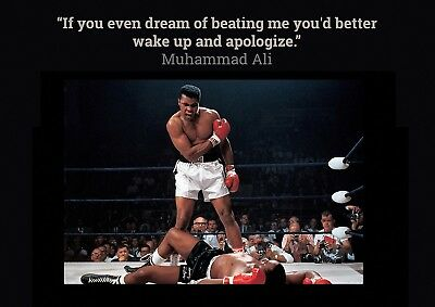 Muhammad Ali Aka Cassius Clay 05 And Sonny Liston Quote Mugs And Poster Prints