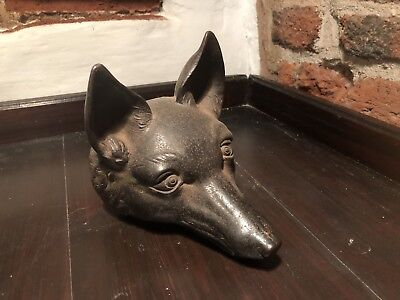 Victorian Cast Iron Doorstep In The Form Of A Fox Head
