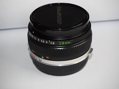 Olympus OM System Zuiko 28mm wide angle F/2.8 Lens