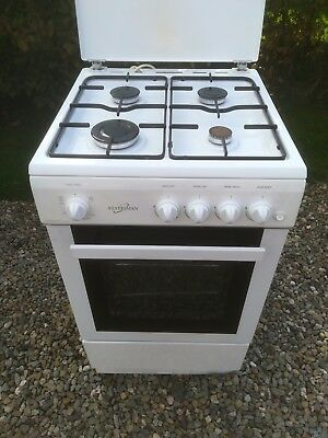 Statesman 50Gslf Gas Cooker In White 50Cm Single Cavity Free Standing Gas Cooker