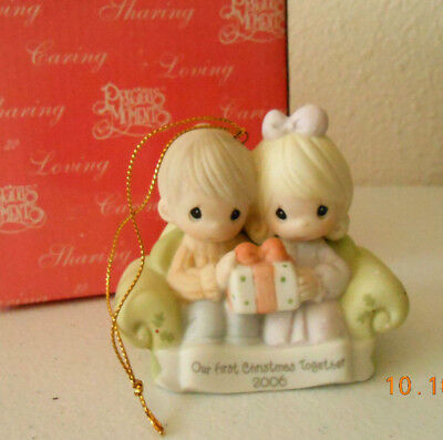 Precious Moments Ornament 2006 OUR FIRST CHRISTMAS TOGETHER  #610004