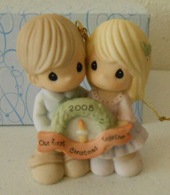 Precious Moments Ornament 2008 OUR FIRST CHRISTMAS TOGETHER #810004