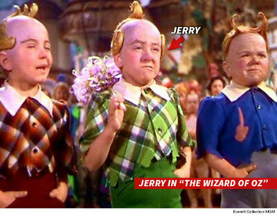 """+ JERRY MAREN-Last Surviving """"Munchkin"""" Actor-"""" The Wizard Of Oz""""-  Signed card"""