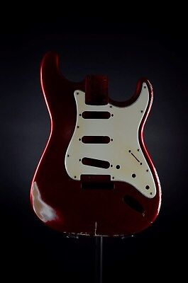 RGH | Strat St. Body Candy Apple Red - Erle / Alder,  Nitro 50s Shape & Pickg.