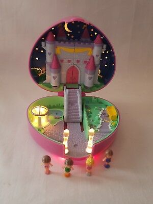 Vintage Polly Pocket Starlight Castle 4 Figures, WORKING LIGHTS 1992