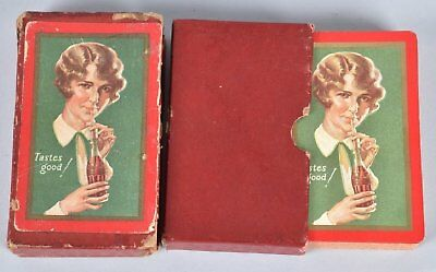 RARE! 1928 Coca Cola Playing Card Deck w/Orig Boxes- 54 Cards Including Joker