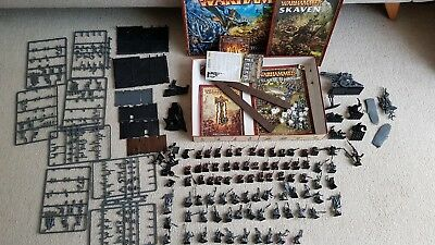 Warhammer Age Of Sigmar Rare Skaven Army Island Of Blood and extra boxes sets