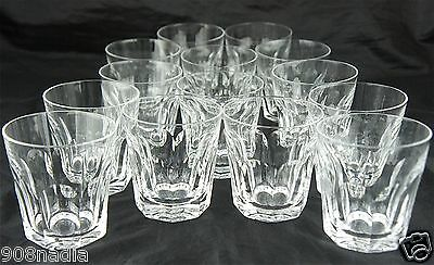 Waterford Crystal Cut Clear Sheila Rock/whiskey/brandy Glass Tumbler Set Of 14