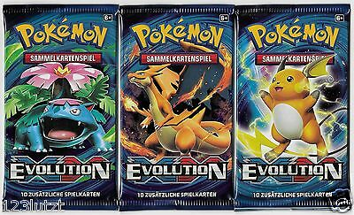 3 Pokemon Booster Pack - XY 12 EVOLUTION BOOSTER - 2016 - Deutsch - OVP