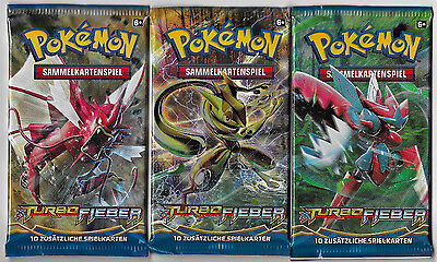 3 Pokemon Booster Pack - XY Turbofieber - 2016 - Deutsch - OVP