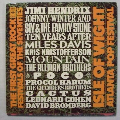 3 LP's  THE FIRST GREAT ROCK FESTIVALS... ISLE OF WIGHT / ATLANTA   1971