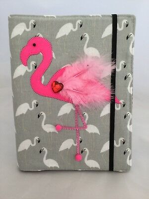 Fabric Flamingo Book Cover Handmade