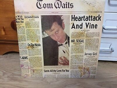 Tom Waits - Heart Attack and Vine LP EX First UK pressing