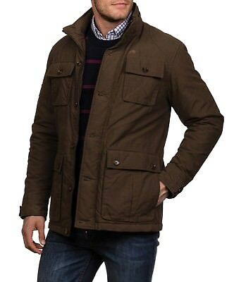 NEW MENS RAGING BULL KHAKI PADDED FIELD JACKET - 4-Pocket Coat