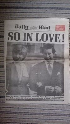 Daily Mail Feat Prince Charles/Lady Diana Engagement 25/02/1981