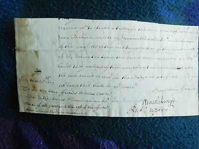 1st Duke of Marlborogh partial document signed - Lord High Treasurer