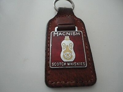 Vintage Macnish Scotch Rare  Whiskey Enamel advertisement keychain keyring