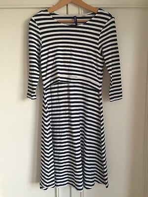 Seraphine Maternity Blue & White Striped Nursing Dress Size 12