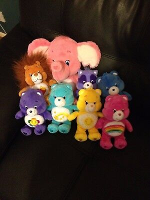 Care bear bundle, 7 x 8.5 in, 1 x 13.5 in, retro/vintage toy excellent condition