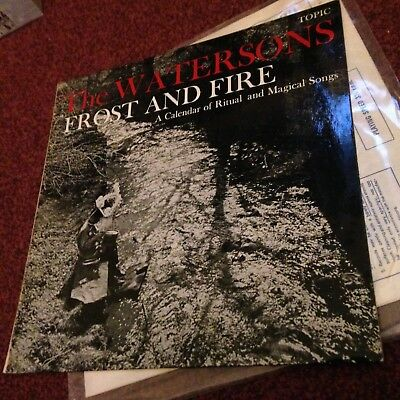 The Watersons Frost And Fire Uk Lp Orig Blue Topic Ritual And Magical Songs