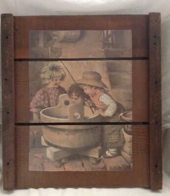 Vintage Grape Drying Tray Hanging Picture ~ CA San Joaquin Valley ~ Rare ~