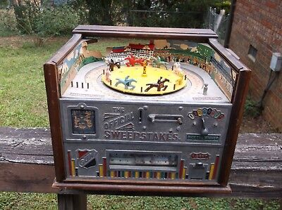 1928 Rock-Ola Official Sweepstakes Counter Top Horse Race Trade Stimulator