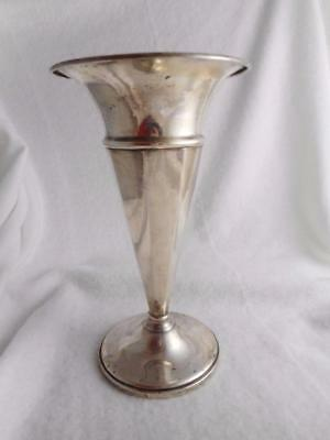 "Rare Mueck Carey Co Ny Sterling Silver Weighted 7 3/4"" Trumpet Vase"